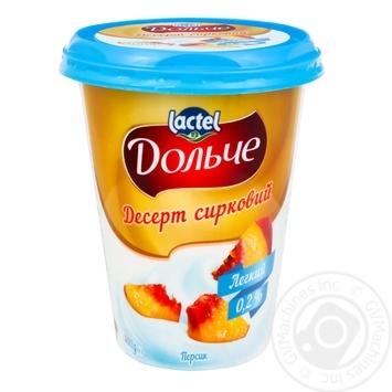 Десерт сирковий Дольче персик 0,2% 400г
