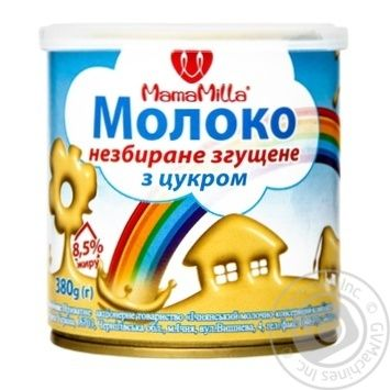 Mama Milla Whole Condensed Milk with sugar 8.5% 380g - buy, prices for Novus - image 1
