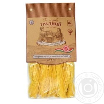 Вермишель Галицкие Традиции домашняя яичная 400г - купить, цены на Novus - фото 1
