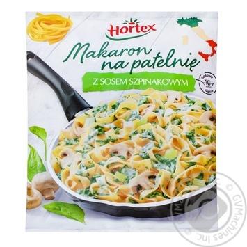 Макарони для смаження зі шпинатним соусом Hortex 450г