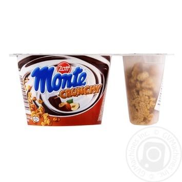 Zott Monte Crunchy  with chocolate and hazelnut milk dessert 125g - buy, prices for MegaMarket - image 1