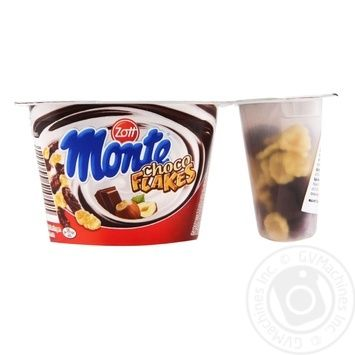 Zott Monte Choco Flakes with chocolate and hazelnut milk dessert 13,9% 125g - buy, prices for MegaMarket - image 1