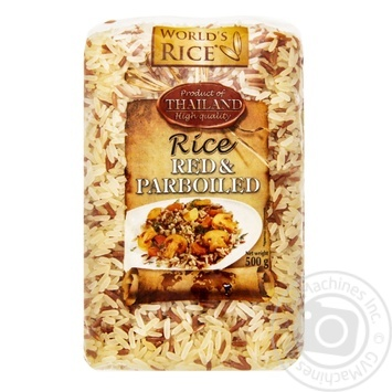 Рис World`s Rice parboiled червоний 500г - купити, ціни на МегаМаркет - фото 1