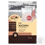Крупа в пакетиках для варки рис жасмін з насінням льону Август 350г