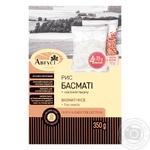 Крупа Август Рис Басмати в пакет с семенами льна 350г