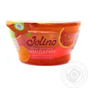 Десерт фруктовий Джоліно Мандарин в желе з нектаром червоного апельсину 150г