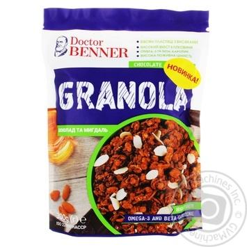 Гранола Doctor Benner Шоколад та мигдаль 300г - купити, ціни на Novus - фото 1