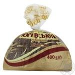 Хлеб Царь Хлеб Юрьевский заварной половинка нарезка 400г - купить, цены на Novus - фото 1