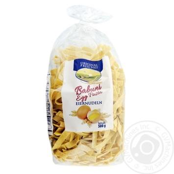 Макаронні вироби Babuni Egg Pasta 500г - купити, ціни на Novus - фото 1