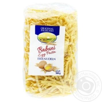 Макаронні вироби Babuni Egg Pasta Лапша 500г - купити, ціни на Novus - фото 1