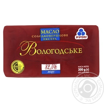 Rud Vologodske sweet cream butter 82.5% 200g - buy, prices for MegaMarket - image 1