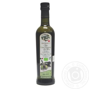Масло оливковое Goccia D'oro первого холодного отжима нерафинированное 500мл - купить, цены на Novus - фото 1