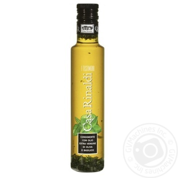 Oil Casa rinaldi olive with basil extra virgin 250ml glass bottle - buy, prices for Novus - image 1