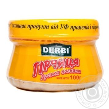 Горчица Derbi Русская огненная 100г - купить, цены на Novus - фото 1