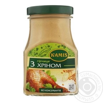 Kamis Mustard with Horseradish 185g - buy, prices for Novus - image 1