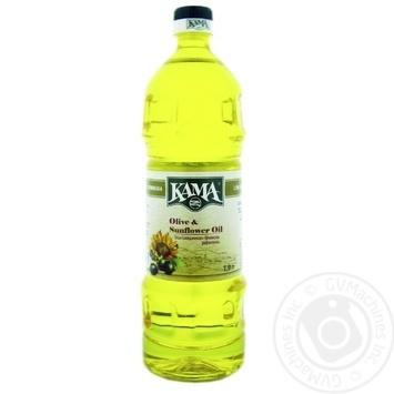 Масло Кама подсолнечно-оливковое рафинированное 1л