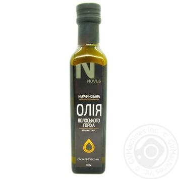 Масло грецкого ореха Novus первого холодного прессования 230г - купить, цены на Novus - фото 1