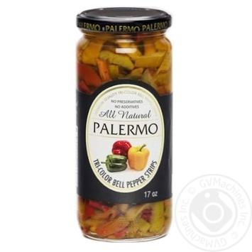 Перець солодкий Palermo Tri-Color нарізаний пастеризований 500мл - купить, цены на Novus - фото 1