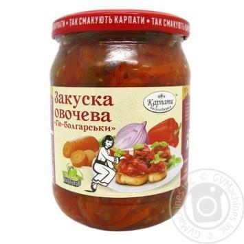 Закуска овощная Карпати Насолоджуйся По-болгарски 480г - купить, цены на Novus - фото 2
