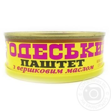 Паштет печеночный Онисс Одесский со сливочным маслом 240г - купить, цены на Novus - фото 1