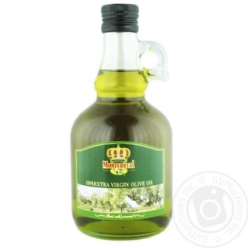 Масло оливковое Monterreal первого отжима нерафинированное 500мл - купить, цены на Novus - фото 1