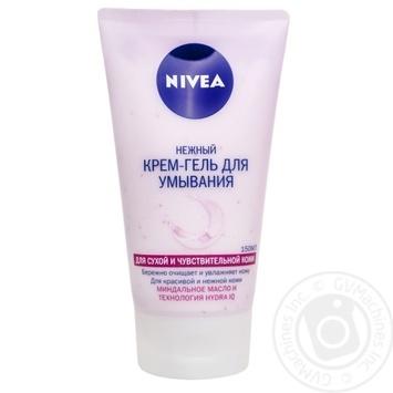 Крем-гель Nivea Нежный для умывания для сухой и чувствительной кожи 150мл - купить, цены на Novus - фото 1