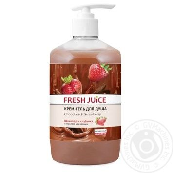 Крем-гель для душа Fresh Juice Шоколад & Клубника 750мл