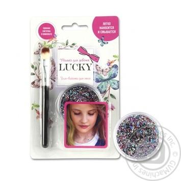 Гель-блискітки дитячі для тіла, обличчя, волосся, Lukky колір мікс