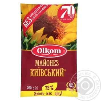 Майонез Олком Київський 72% 200г - купити, ціни на Novus - фото 1