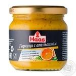 Горчица Хаас с апельсином 210г