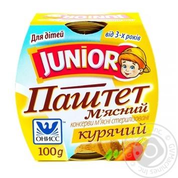 Паштет м'ясний Онісс Junior курячий 100г - купити, ціни на Novus - фото 2