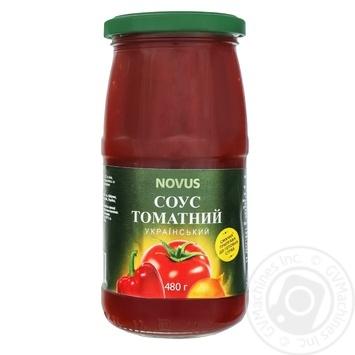 Соус томатный Novus Украинский 480г - купить, цены на Novus - фото 1