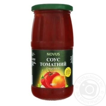 Sauce Novus Satsebeli tomato 480g glass jar - buy, prices for Novus - image 1