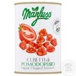 Томати консервовані Manfuso очищені нарізані органічні 400г