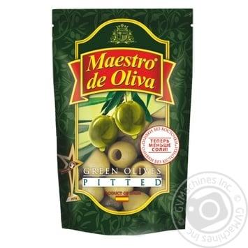 Оливки Maestro De Oliva без кісточки 175г - купити, ціни на Фуршет - фото 1