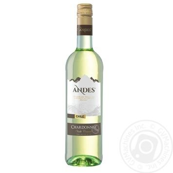 Andes Chardonnay white dry wine 13.5% 0,75l - buy, prices for Novus - photo 1