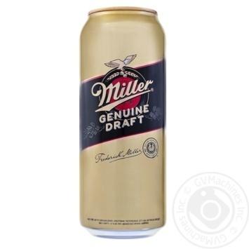 Пиво Miller Genuine Draft светлое 4,7% з/б 0,5л - купити, ціни на Фуршет - фото 1