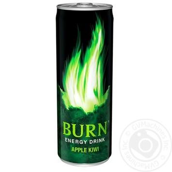 Напій енергетичний Burn Яблуко-Ківі безалкогольний 0,5л - купити, ціни на Фуршет - фото 1