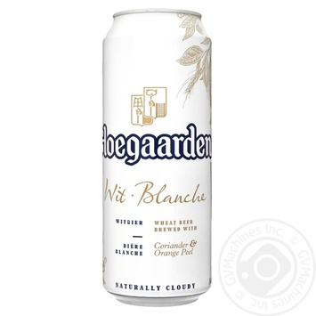 Hoegaarden White Beer can 4.9% 0,5l - buy, prices for Furshet - image 1