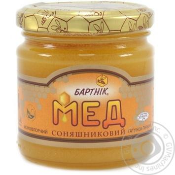 Мед цветочный подсолнечный 250г Бартник - купить, цены на Novus - фото 1