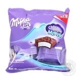 Тістечко Milka Choco Snack Minis бісквітне з кремом у молочному шоколадi 8*16г 128г