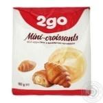 Мини-круассаны 2go с ванильной начинкой 180г