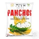 Чипсы Panchos со вкусом сметанв и зелени 82г