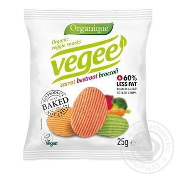 Снеки картофельные Mclloyd's Vegee органические без глютена 25г - купить, цены на МегаМаркет - фото 1