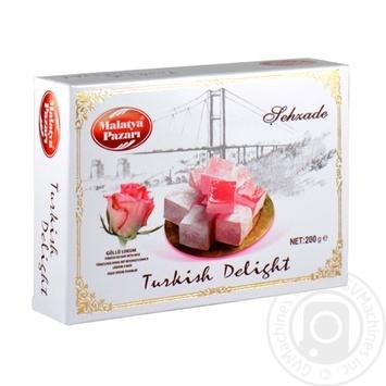 Turkish delight Malatya pazari with rose extract 200g Turkey - buy, prices for Novus - image 1