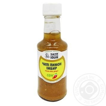 Соус чилі лимон імбир TatoPepperJam 210гр пляшка - купить, цены на Novus - фото 1