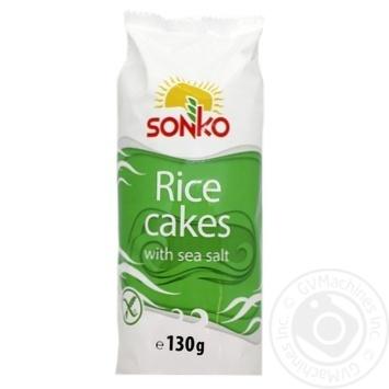 Галети Sonko рисові з морською сіллю 130г