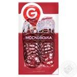 Колбаса Глобино Московская сырокопченая нарезка 80г - купить, цены на Фуршет - фото 2