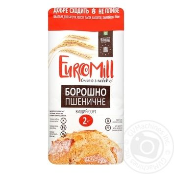 EuroMill Wheat Flour Top Grade 2kg - buy, prices for CityMarket - photo 1