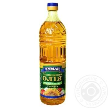 Олія соняшникова Чумак Домашня нерафінована 900мл - купити, ціни на Novus - фото 1